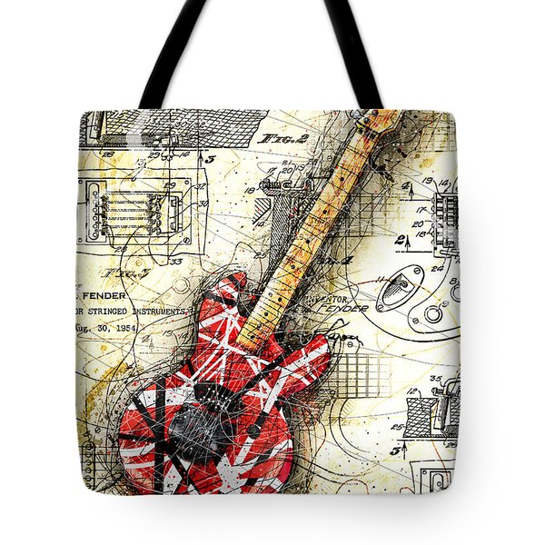 Eddie's Guitar II Tote Bag by Gary Bodnar