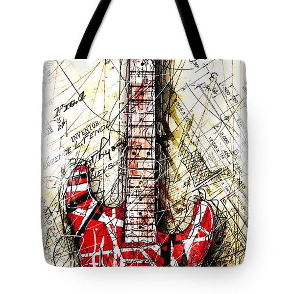 Eddie's Guitar Vert 1a Tote Bag by Gary Bodnar