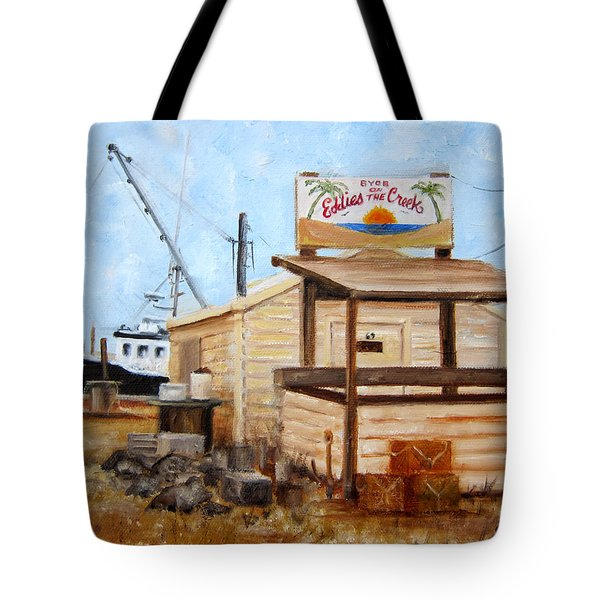 Eddies On The Creek Belford Nj Tote Bag