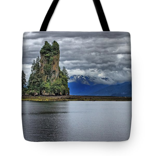 Eddystone Rock In Misty Fjords National Monument Tote Bag