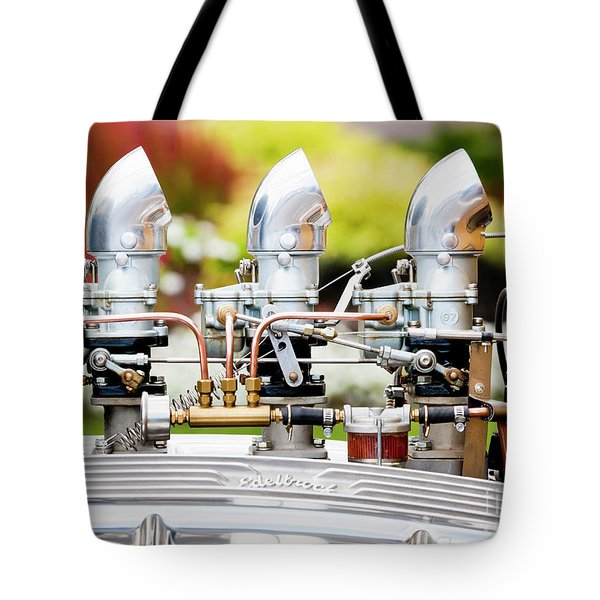 Tote Bag featuring the photograph Edelbrock Side View by Chris Dutton
