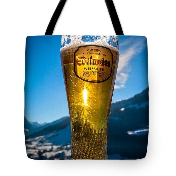 Edelweiss Beer In Kirchberg Austria Tote Bag