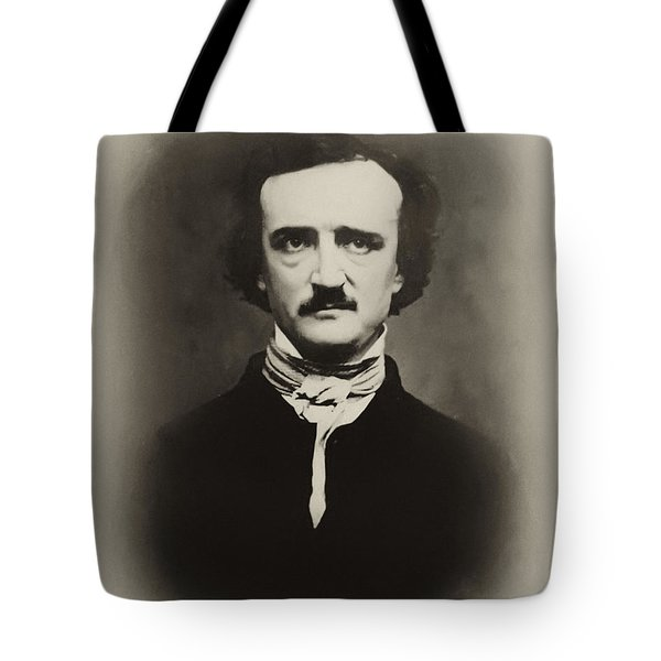 Edgar Allen Poe Tote Bag by Bill Cannon
