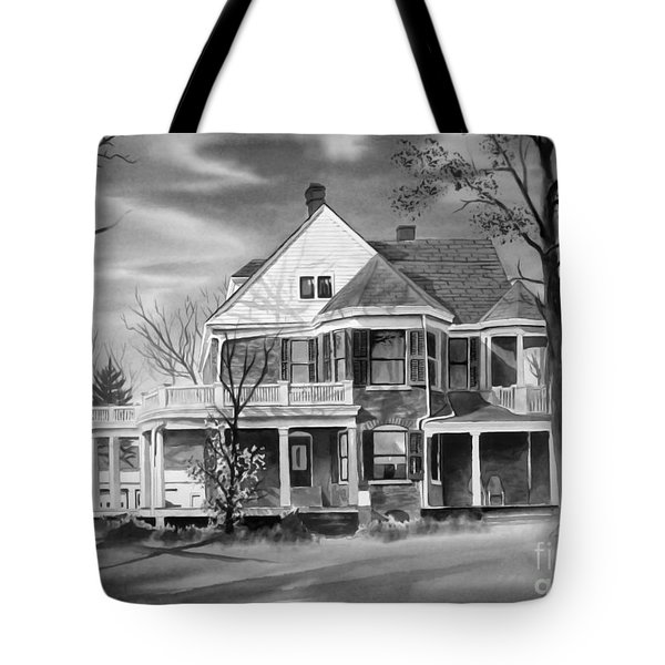 Edgar Home Bw Tote Bag by Kip DeVore