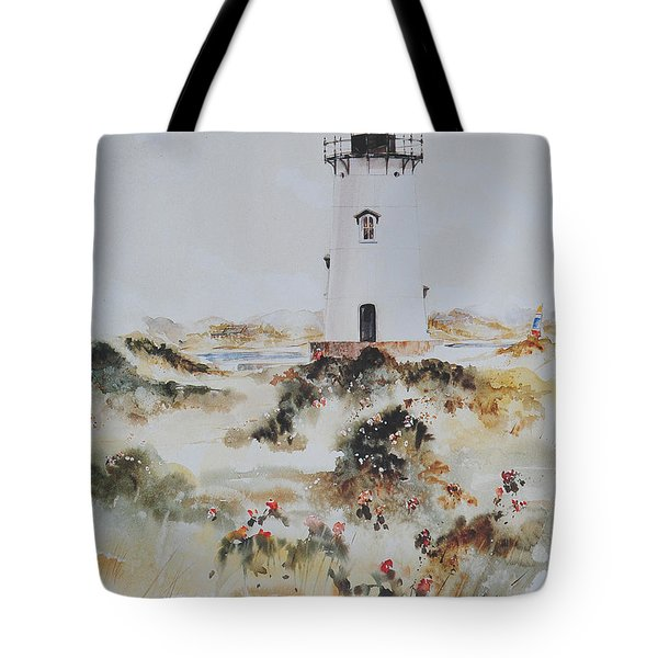 Edgartown Light Marthas Vineyard Tote Bag