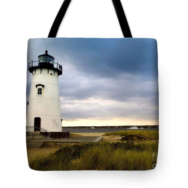 Edgartown Lighthouse Cape Cod Tote Bag by Matt Suess