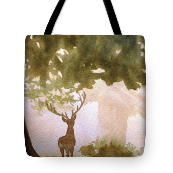 Edge Of The Forrest Tote Bag by Marilyn Jacobson