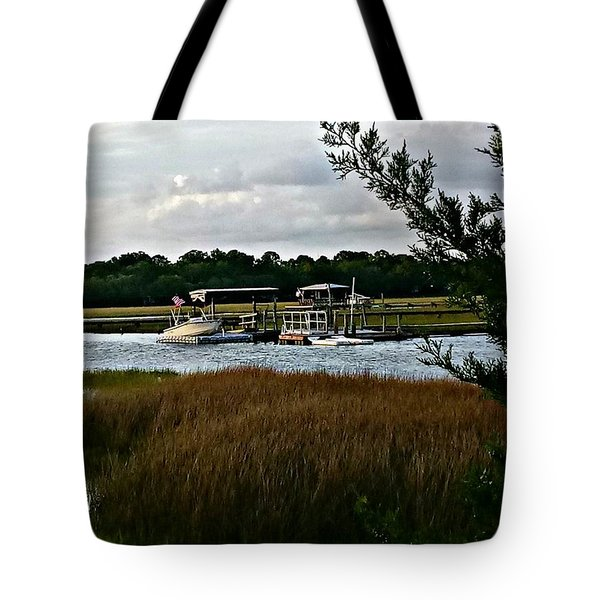 Edge Of The Park Tote Bag