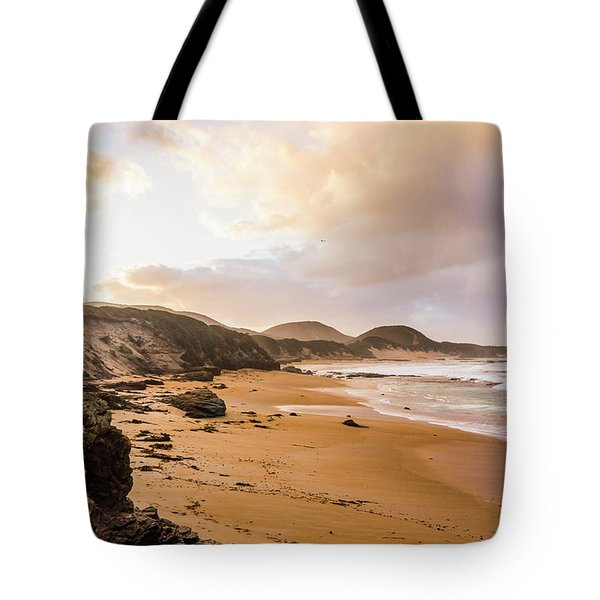 Edge Of Western Shores Tote Bag