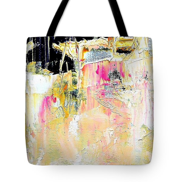 Tote Bag featuring the painting Edge by VIVA Anderson