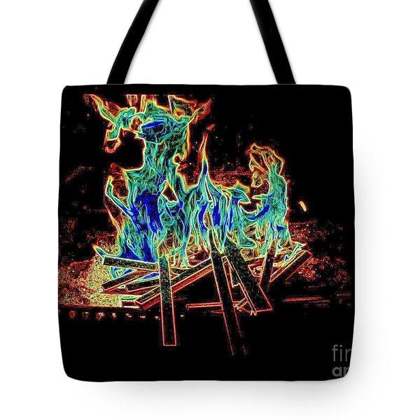 Fire Devils  Tote Bag