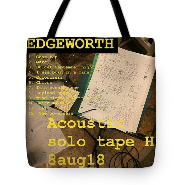 Edgeworth Acoustic Solo Tape H Tote Bag