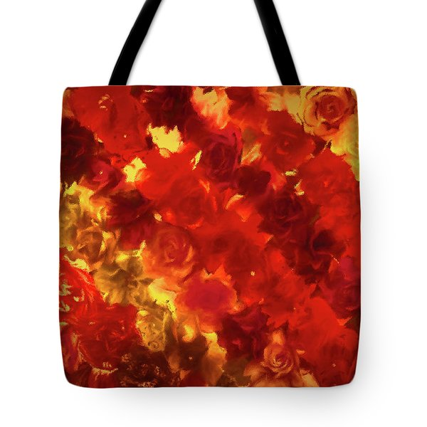 Edgy Flowers Through Glass Tote Bag