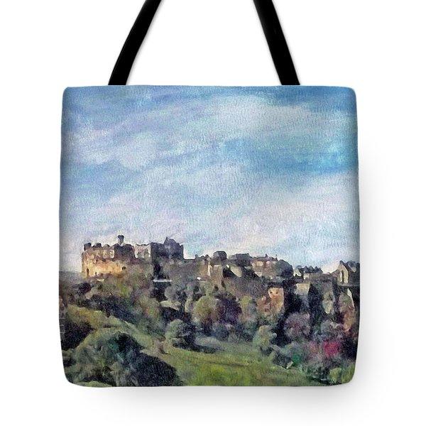 Edinburgh Castle Bright Tote Bag