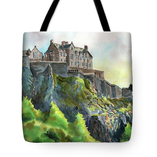 Edinburgh Castle From Princes Street Tote Bag