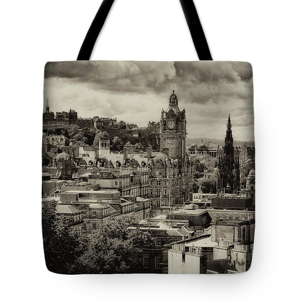 Tote Bag featuring the photograph Edinburgh In Scotland by Jeremy Lavender Photography