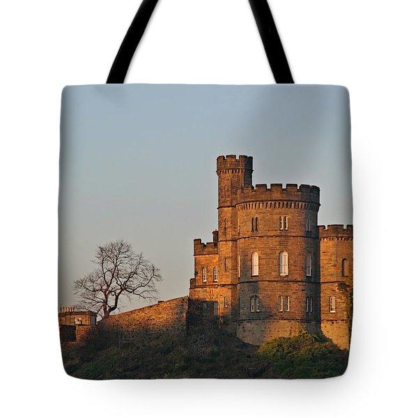 Edinburgh Scotland - Governors House And Obelisk Calton Hill Tote Bag