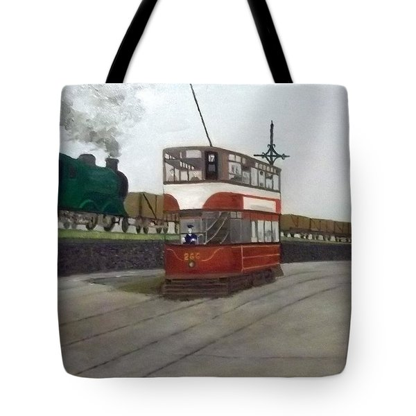 Edinburgh Tram With Goods Train Tote Bag