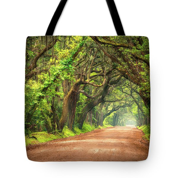 Edisto Island South Carolina Dirt Road Landscape Charleston Sc Tote Bag