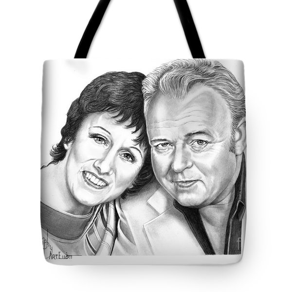Edith And Archie Bunker Tote Bag by Murphy Elliott