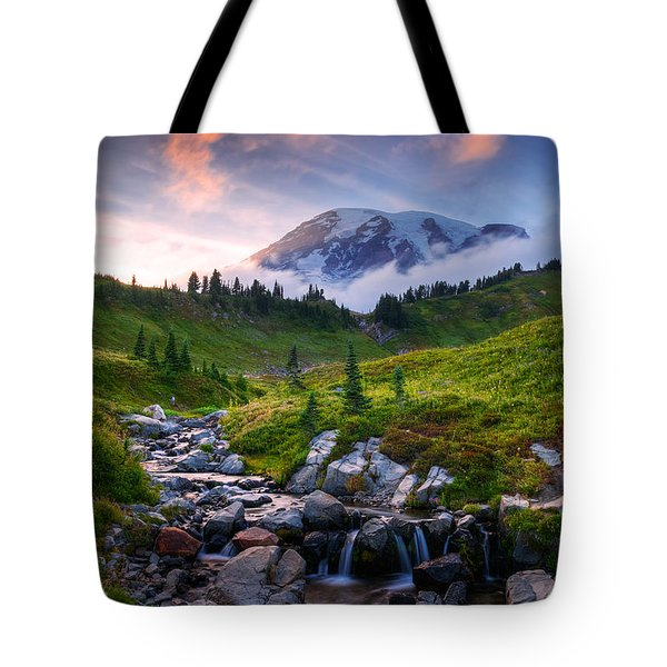 Edith Creek Sunset Tote Bag
