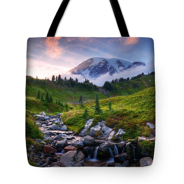 Edith Creek Sunset Tote Bag