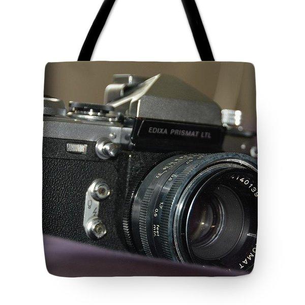 Tote Bag featuring the photograph Edixa Prismat L T L by John Schneider