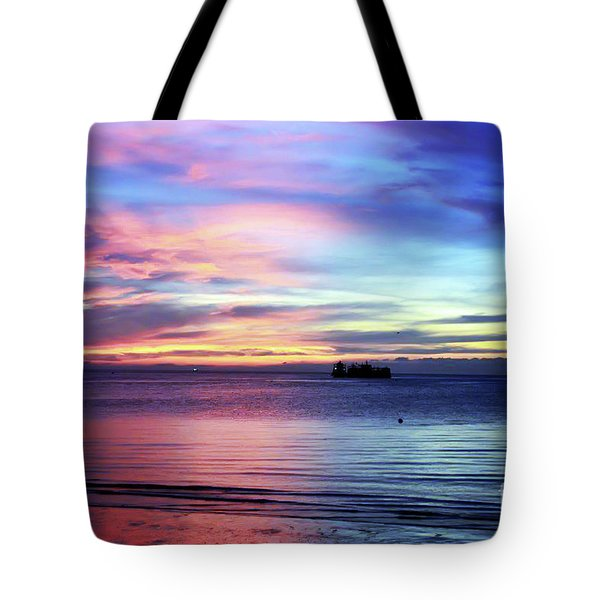 Edmonds Washington Rainbow Sunset Tote Bag