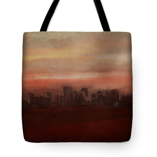 Edmonton At Sunset Tote Bag