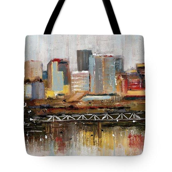 Edmonton Skyline Abstract1 Tote Bag