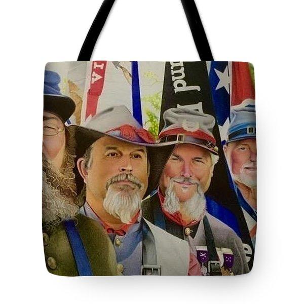 Edmund Ruffin Color Guard Tote Bag
