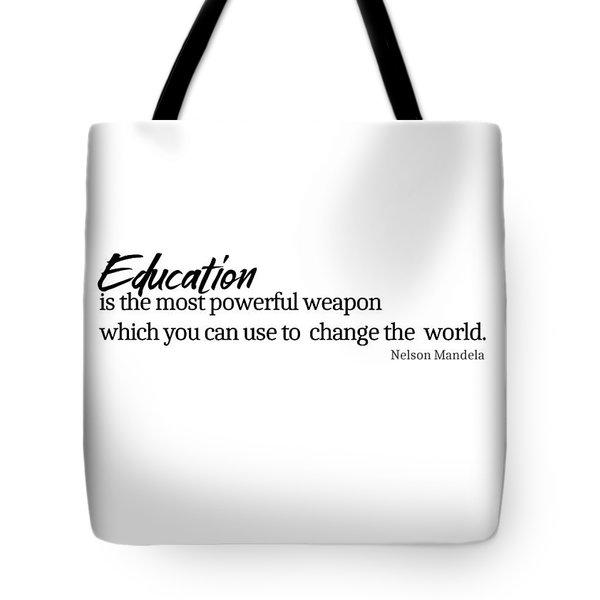 Education #minimalism Tote Bag