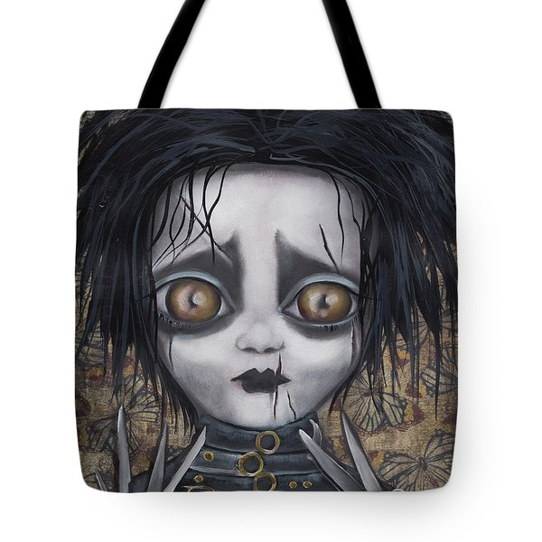 Edward Scissorhands Tote Bag by Abril Andrade Griffith