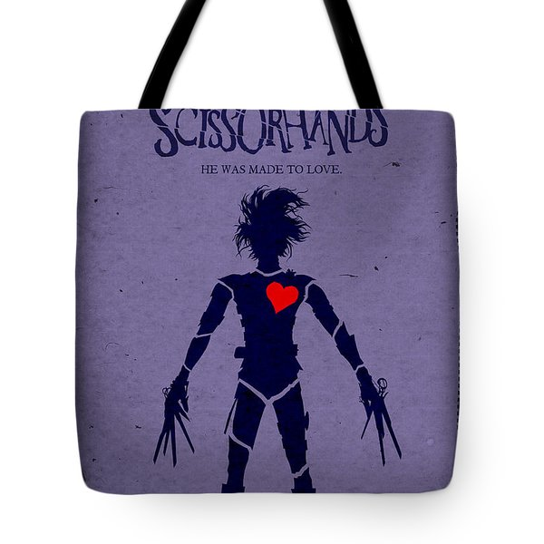 Edward Scissorhands Alternative Poster Tote Bag by Christopher Ables