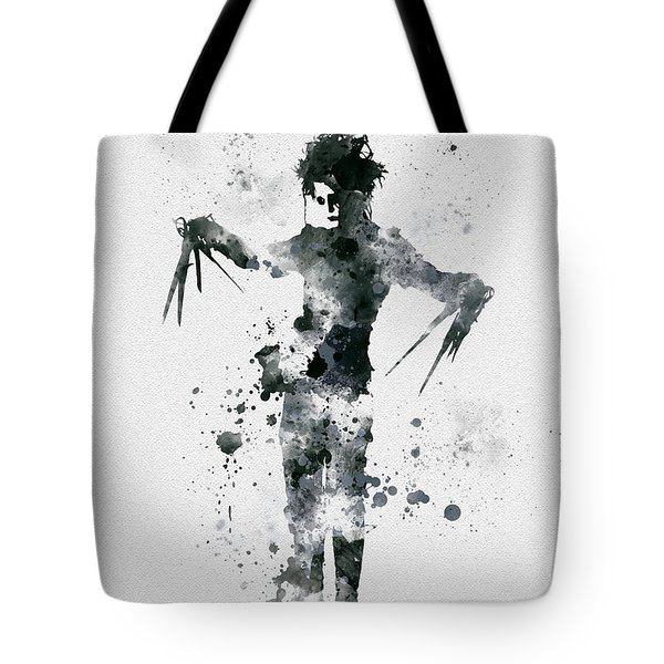 Edward Scissorhands Tote Bag by Rebecca Jenkins