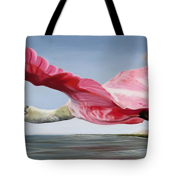 Edwin's Roseate Spoonbill Tote Bag