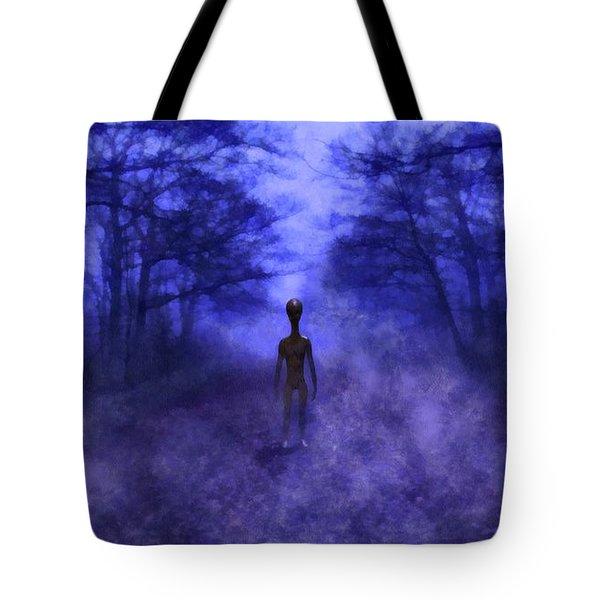 Eerie Alien Tote Bag