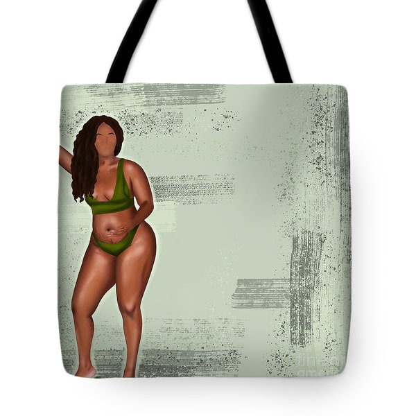 Tote Bag featuring the digital art Eff Your Beauty Standards by Bria Elyce