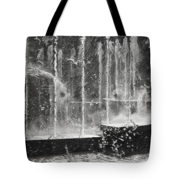Effervescence Fountain In Milano Italy Tote Bag by Kelly Borsheim
