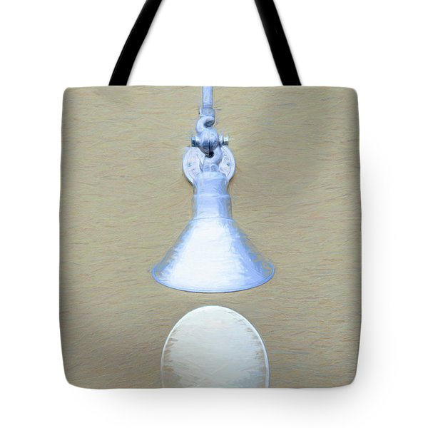 Tote Bag featuring the photograph Egg Drop Lamp by Gary Slawsky