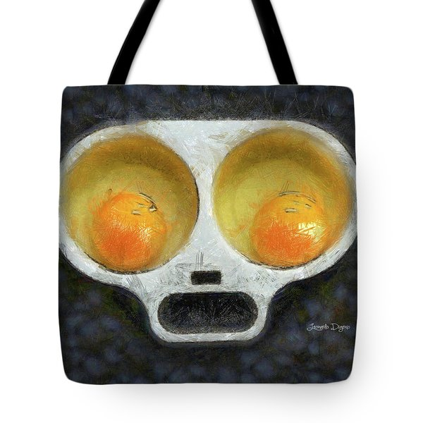 Egg Face Tote Bag