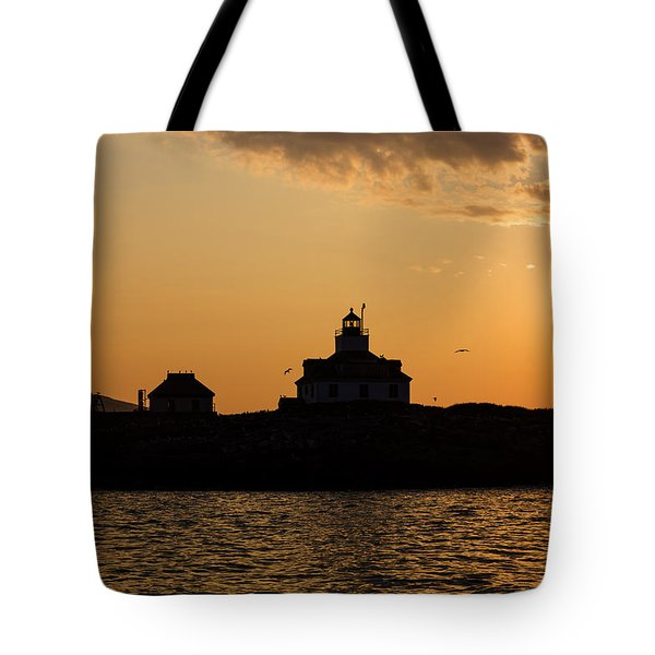 Tote Bag featuring the photograph Egg Rock Lighthouse by Gary Smith