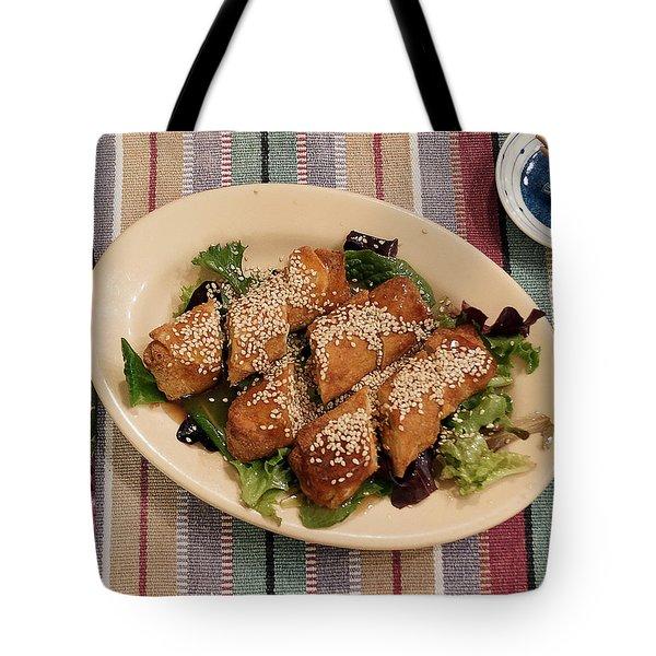 Egg Rolls And Sesame Tote Bag