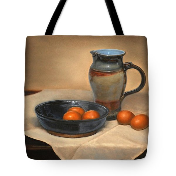 Eggs And Pitcher Tote Bag