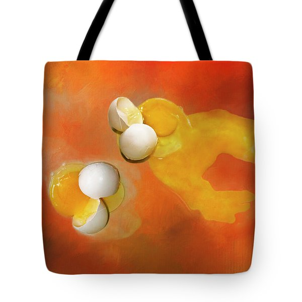 Eggs Tote Bag by Carolyn Marshall