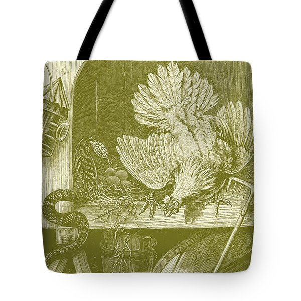 Eggs Hatch Having Been Eaten By A Snake Tote Bag
