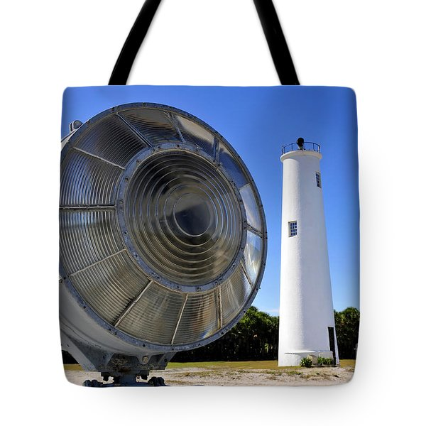 Egmont Key Lighthouse 1858 Tote Bag by David Lee Thompson