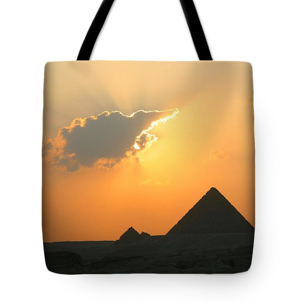Egpytian Sunset Behind Cloud Tote Bag
