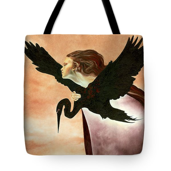 Tote Bag featuring the painting Egress by Ragen Mendenhall