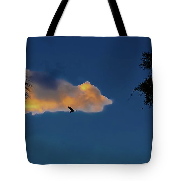 Egressing Egret Tote Bag by DigiArt Diaries by Vicky B Fuller
